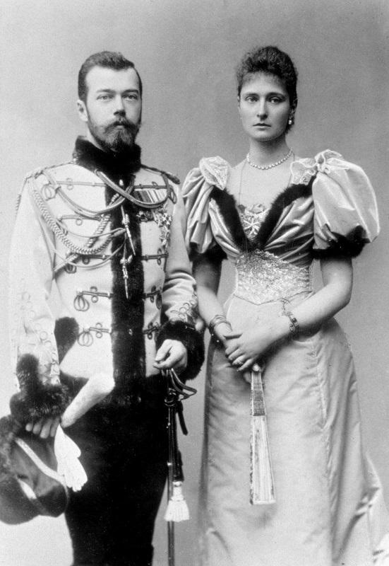 Николай II и императрица Александра 1896г
